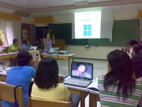 Ms. Hernandez facilitates the workshop