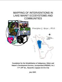 Mapping of Interventions in Lake Mainit by Dr. Roxas