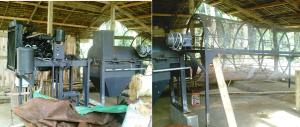 The fabricated coco coir machine at PCFMPC
